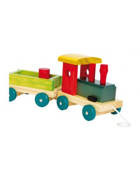 Base Toys houten trein Emiel