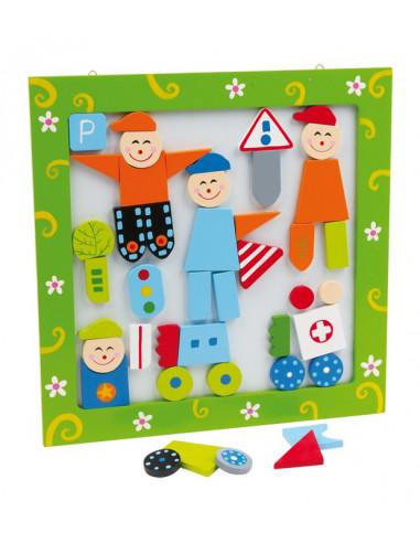 Base Toys houten magneetfoto figuren