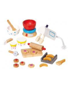Goki Houten poppenhuis meubel keukengerei