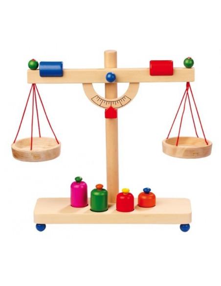 Base Toys houten weegschaal