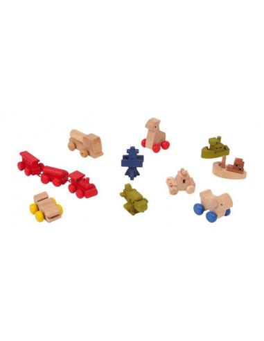 Base Toys Houten poppen speelgoed