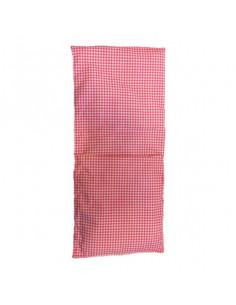 Roze geruit dekentje