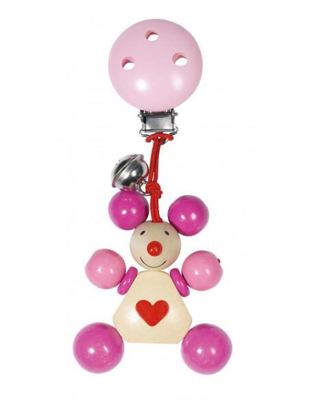 Heimess clip-figuur Muis (roze)