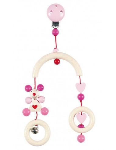 Heimess Baby mobiel Muis (roze)