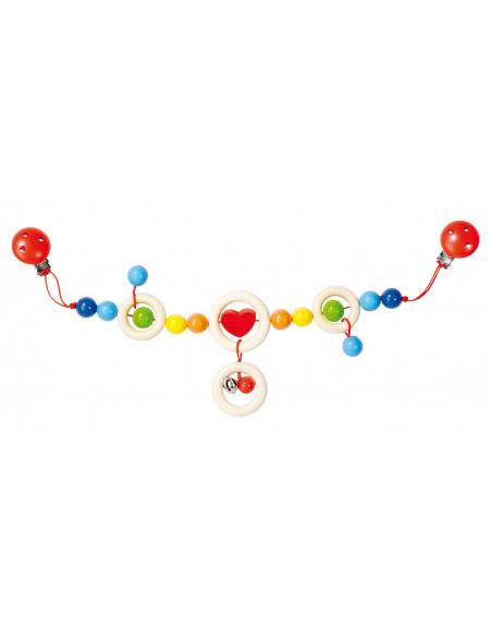 Heimess Kinderwagenketting Hart (gekleurd)