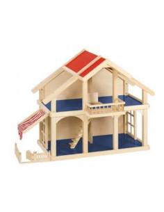 Goki Houten poppenhuis met veranda