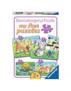 Schattige Huisdieren Puzzel, 4in1
