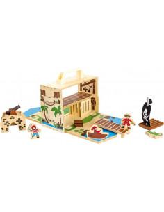 Base Toys Houten poppenhuis Pirateneiland