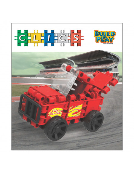 Clics Build & Play - Rode Racewagen