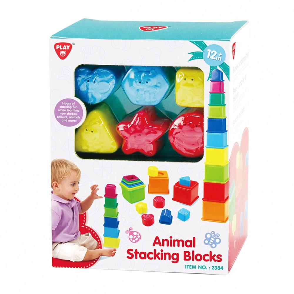Playgo Sorteer en Leer Stapelblokken