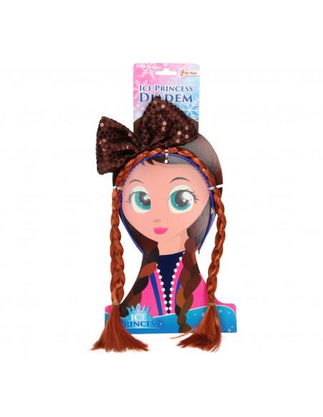 IJsprinses Haarband met Vlecht en Strik BT