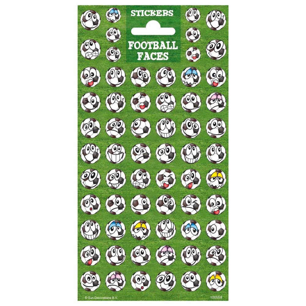 Stickervel Twinkle - Voetbal Gezichten
