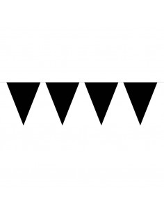 Vlaggenlijn XL Zwart, 10mtr.