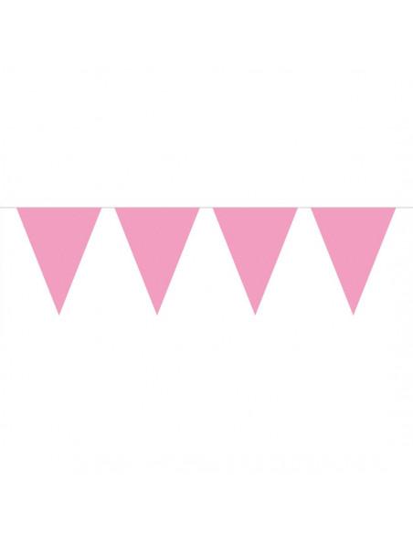 Vlaggenlijn XL Roze, 10mtr.