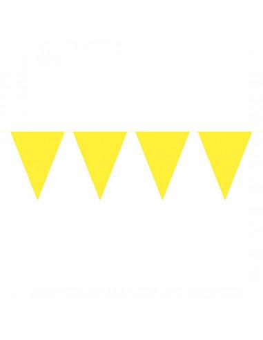 Vlaggenlijn XL Geel, 10mtr.