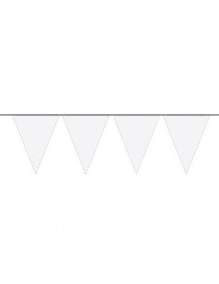 Vlaggenlijn XL Wit, 10mtr.