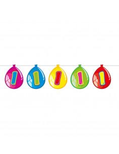 Vlaggenlijn Ballonnen 1 jaar, 10mtr.