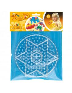 Hama Strijkkralenbordjes Maxi - Cirkel en Ster
