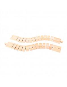BigJigs houten Flexibele Rails (2st)