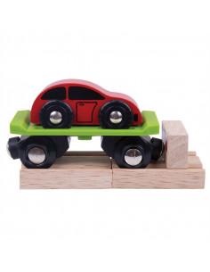 BigJigs Houten Wagon met Auto