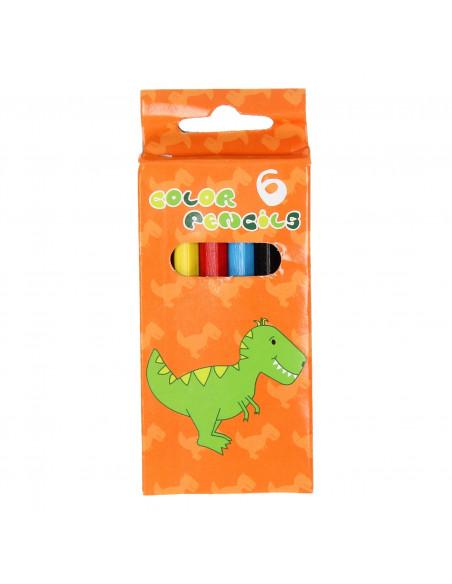 Kleurpotloden Dino, 6st.
