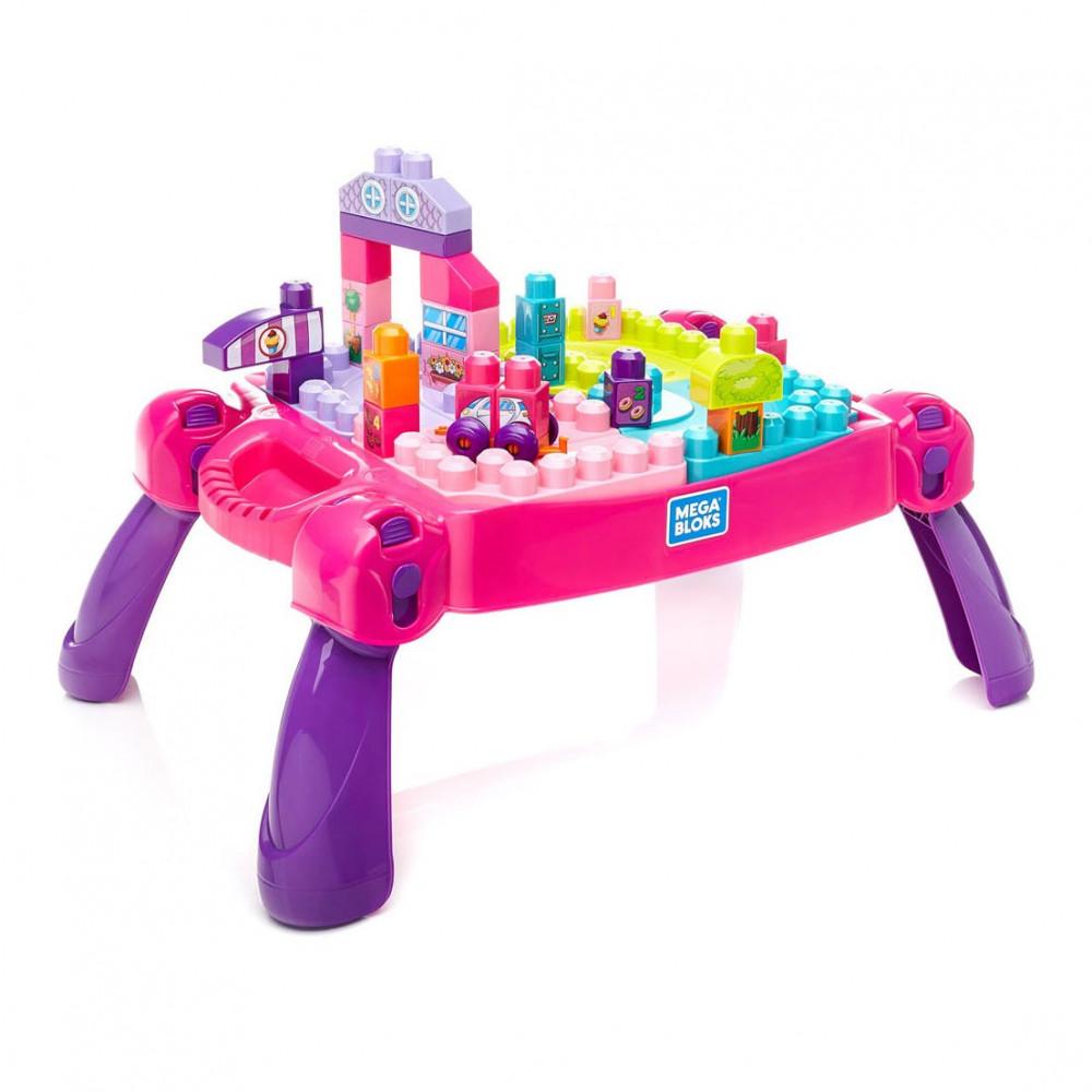 Mega bloks leer en speel tafel roze 30dlg online kopen - Tafel roze kind ...