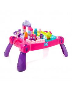 Mega Bloks Leer en Speel Tafel - Roze, 30dlg.