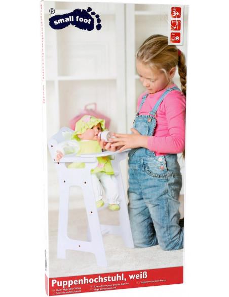 Base Toys houten hoge poppenstoel wit