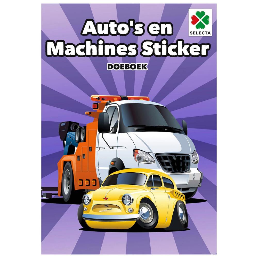 Auto's en Machines Sticker Doeboek