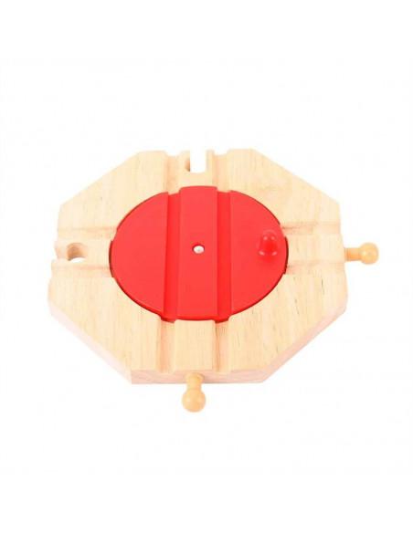 BigJigs houten Rails Draaiplateau 4 Richtingen