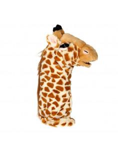 Pluchen Handpop Lang - Giraffe