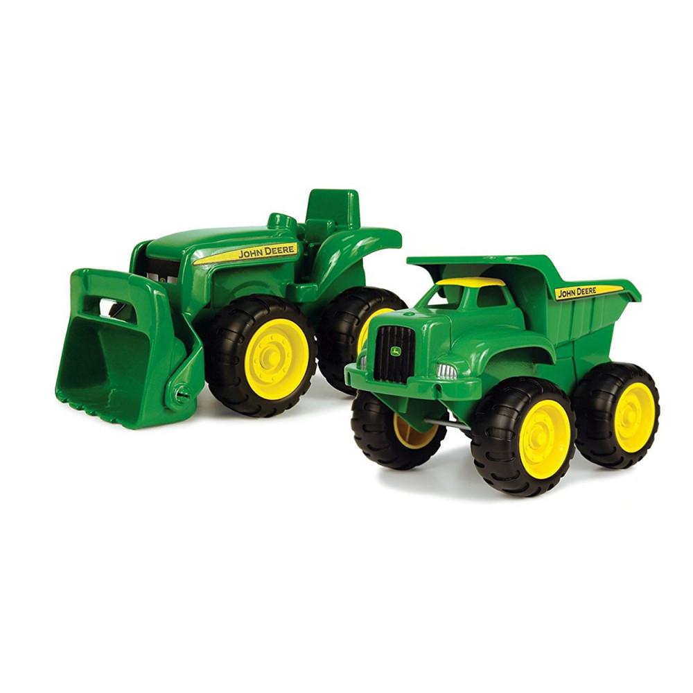 John Deere Kiepwagen en Tractor