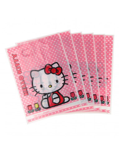 Uitdeelzakjes Hello Kitty, 6st.