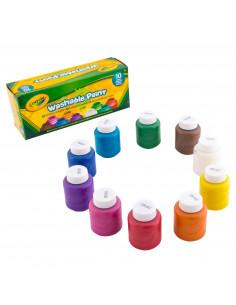 Crayola Potjes met Afwasbare Verf, 10st.