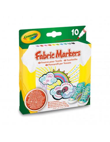 Crayola Textielstiften, 10st. BT