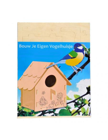 Maak je eigen Houten Vogelhuisje, variatie C
