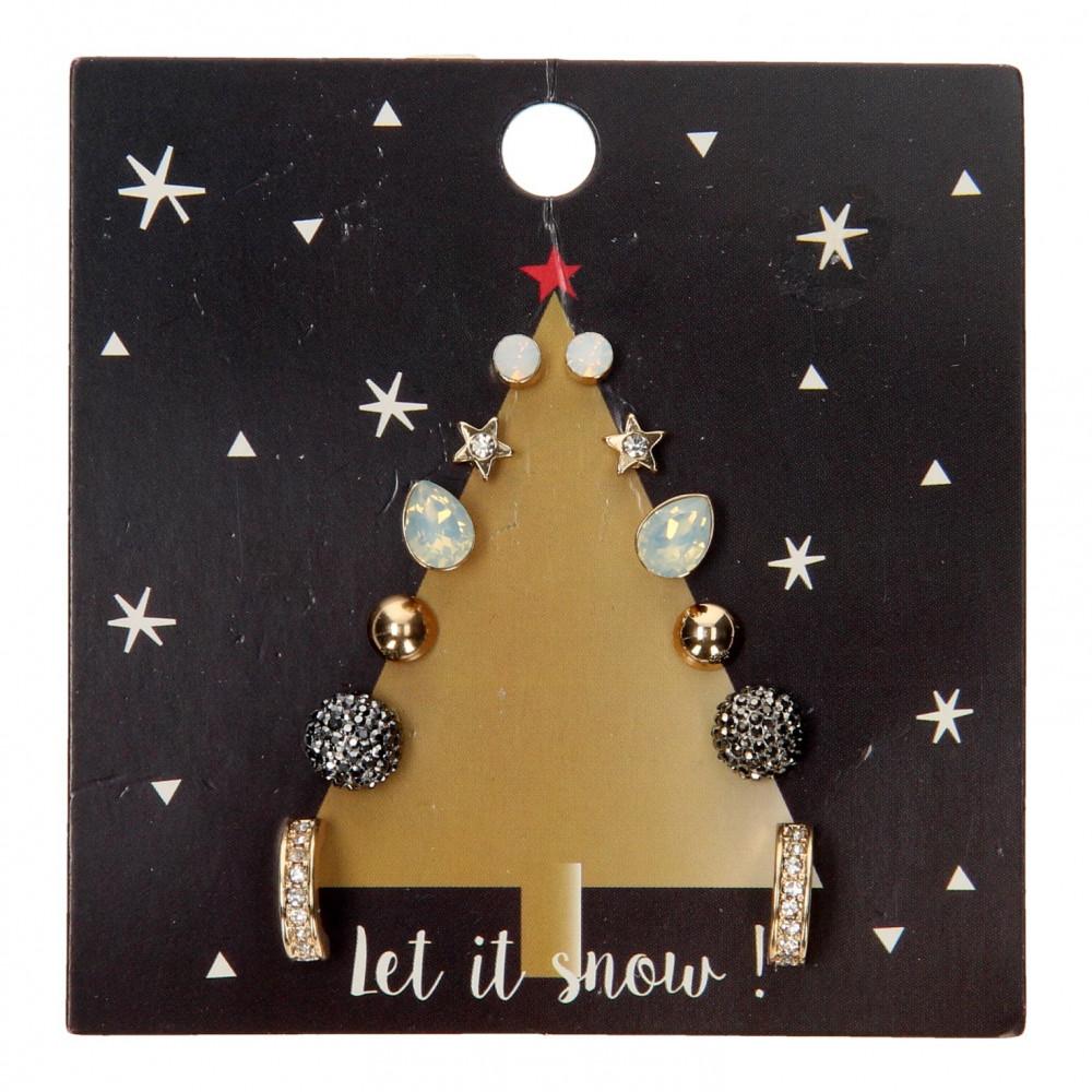 Kinder Oorknopjes Kerstboom, 6 paar