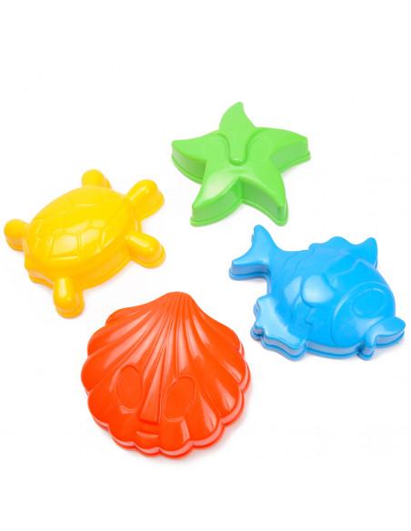 Zandvormen Zeedieren, 4st.
