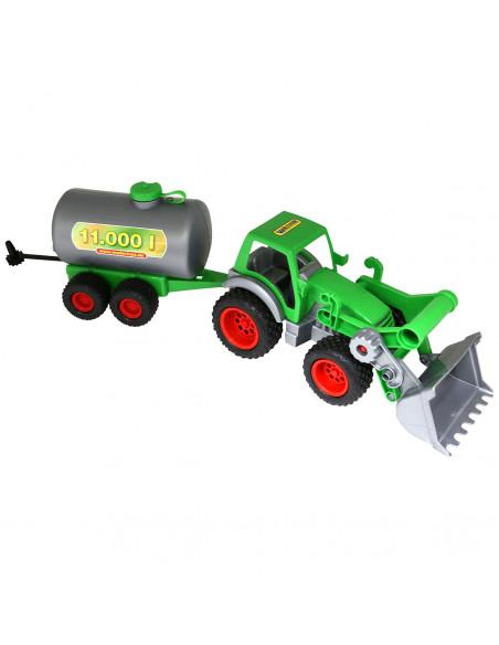 Polesie Tractor met Voorlader en Tanker