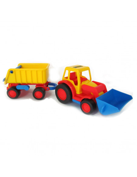 Polesie Basics Tractor met Shovel en Trailer