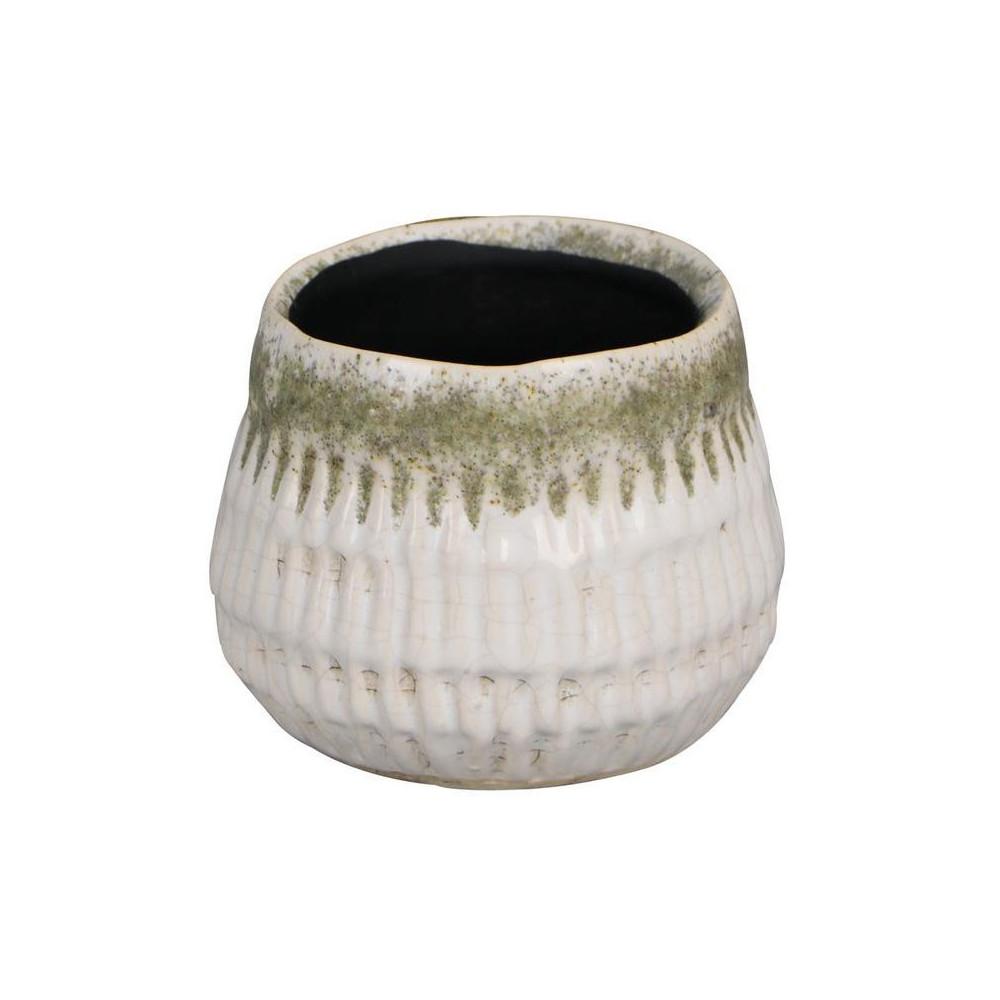 Bloempot Keramiek Wit, 9 cm