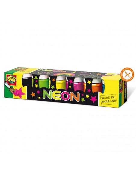 SES Plakkaatverf Neon, 6st.