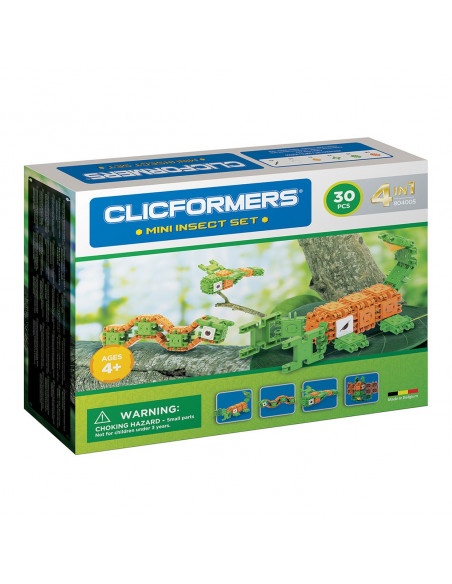 Clicformers Mini Insecten Set 4in1, 30 dlg.