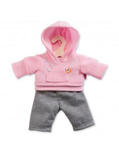 Poppen Jogging Outfit - Roze, 35-45 cm