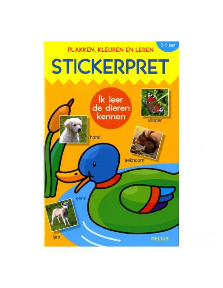 Stickerpret Ik Leer de Dieren