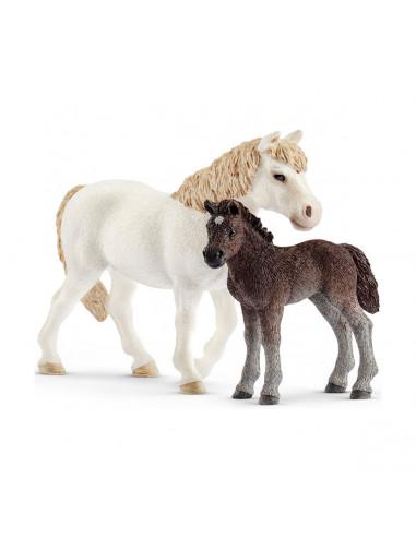 Schleich Pony en Veulen