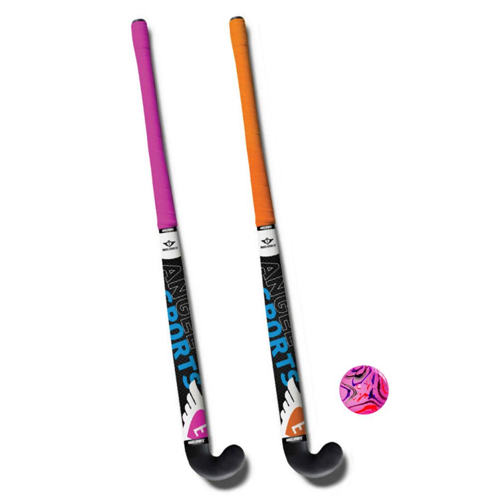 Hockeyset Roze en Oranje 28''