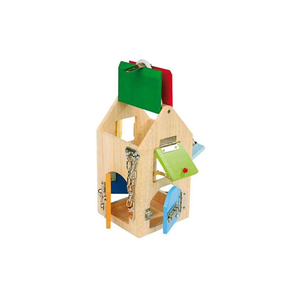 Base Toys houten huis van sloten