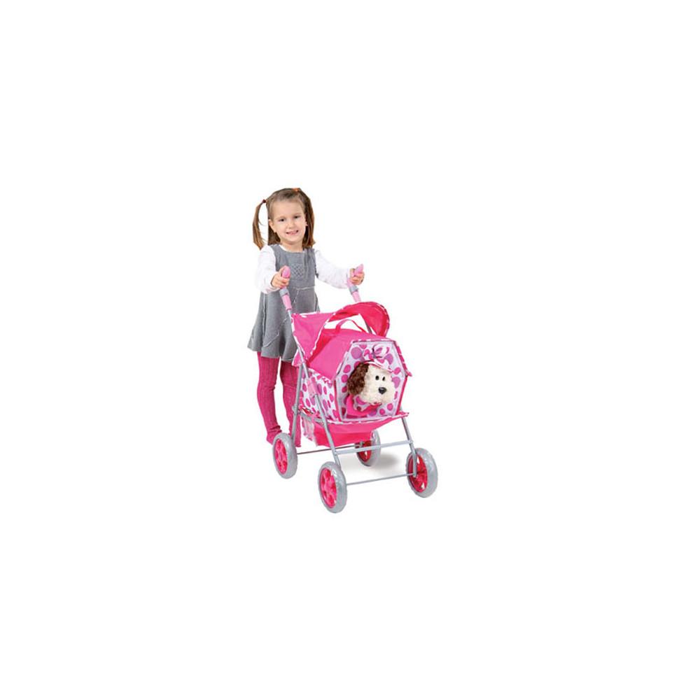 Poppenwagenset Pet stroller 5 in 1 (inclusief hondje)