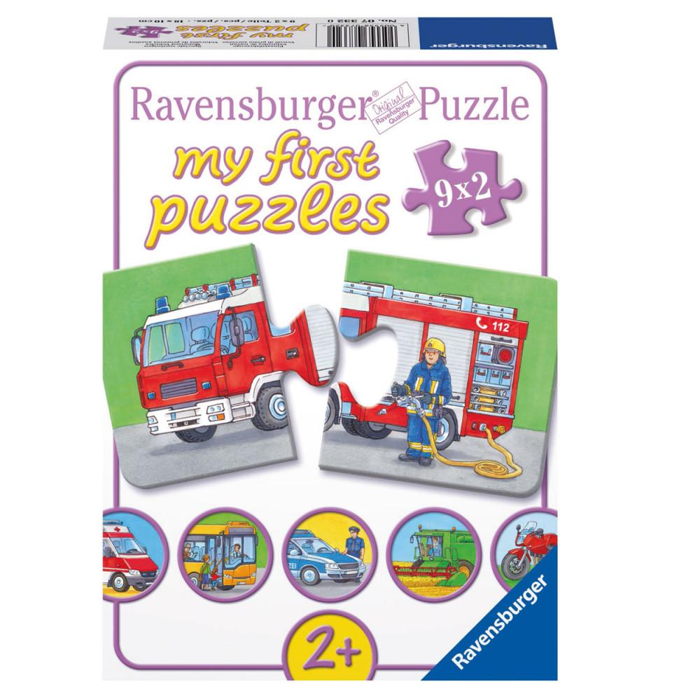 Special Voertuigen puzzel, 9x2st.